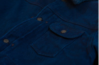 Studio D'Artisan Kasezome Sashiko Jacket - Dark Indigo - Image 6