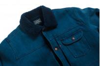 Studio D'Artisan Kasezome Sashiko Jacket - Faded Indigo - Image 5