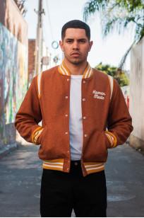 Human Made Reversible Wool & Leather Varsity Jacket - Image 0