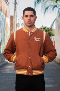 Human Made Reversible Wool & Leather Varsity Jacket - Image 1