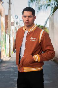 Human Made Reversible Wool & Leather Varsity Jacket - Image 2