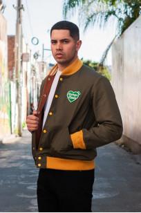 Human Made Reversible Wool & Leather Varsity Jacket - Image 4