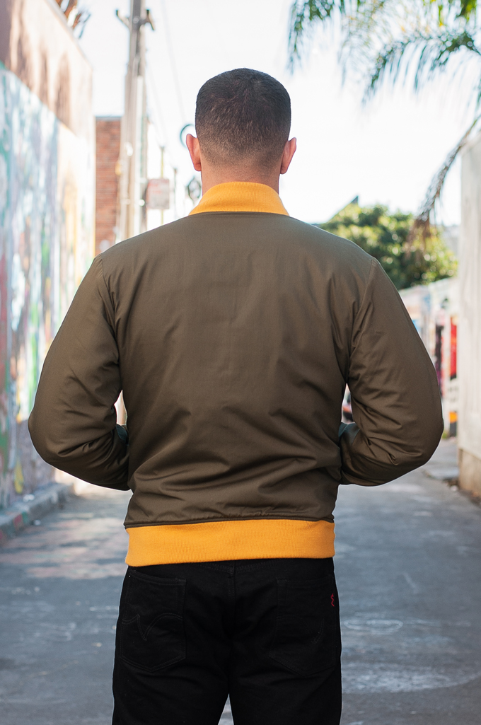 Human Made Reversible Wool & Leather Varsity Jacket - Image 6