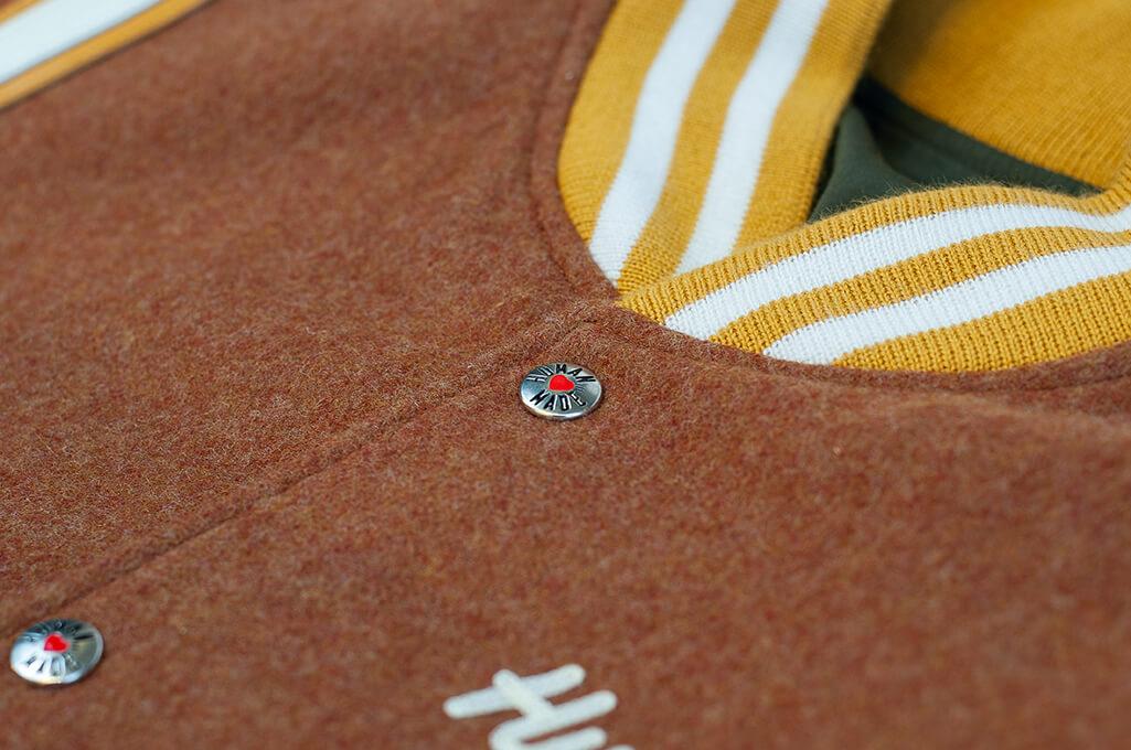 Human Made Reversible Wool & Leather Varsity Jacket - Image 9