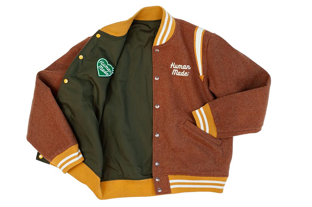 Human Made Reversible Wool & Leather Varsity Jacket - Image 11