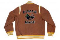 Human Made Reversible Wool & Leather Varsity Jacket - Image 14
