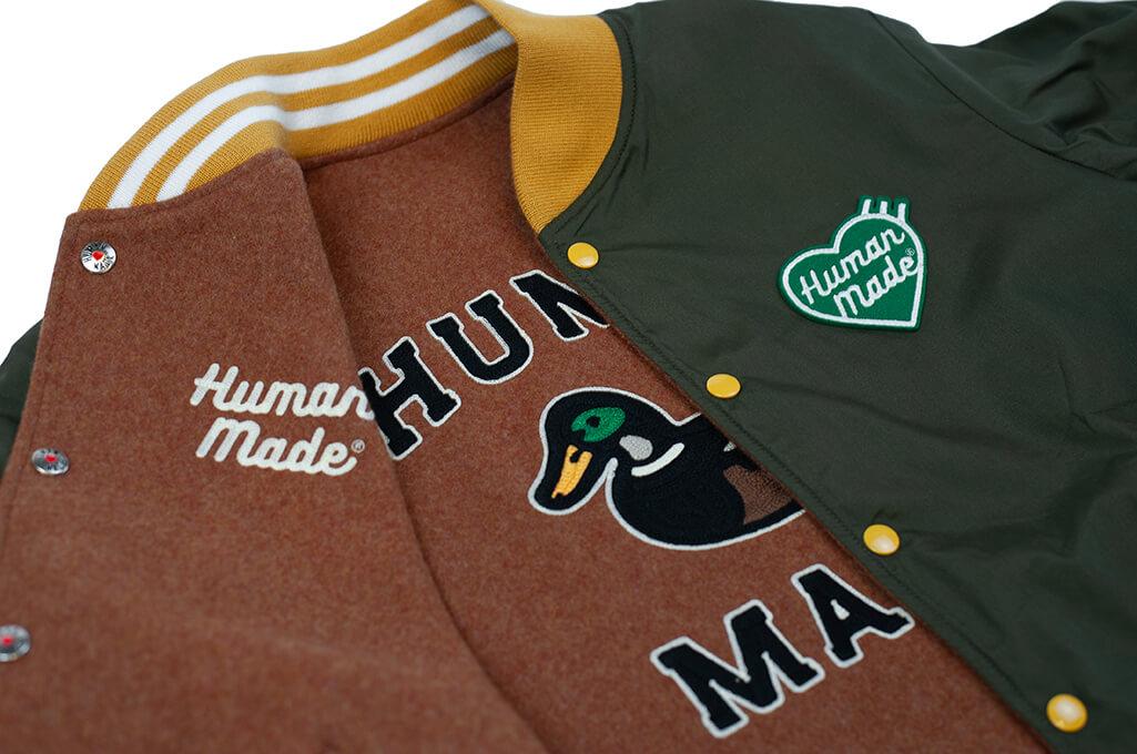 Human Made Reversible Wool & Leather Varsity Jacket - Image 15