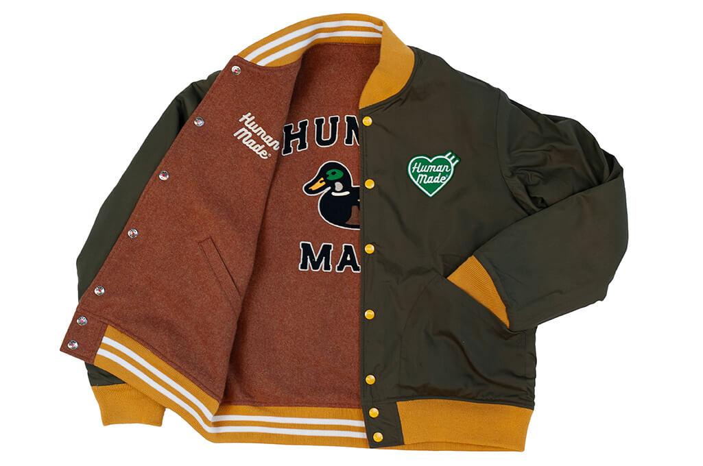 Human Made Reversible Wool & Leather Varsity Jacket - Image 17