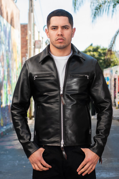 Iron Heart Horsehide Leather Jacket w/ Collar - Self Edge Edition