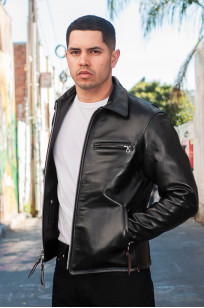 Iron Heart Horsehide Leather Jacket w/ Collar - Self Edge Edition - Image 1