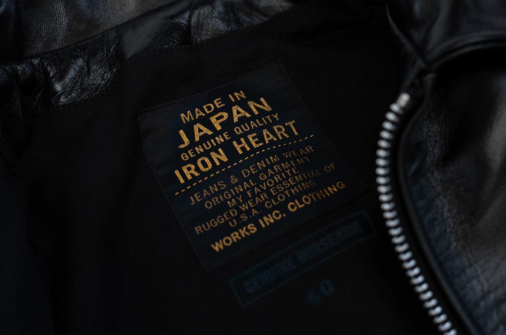 Iron Heart Horsehide Leather Jacket w/ Collar - Self Edge Edition - Image 5
