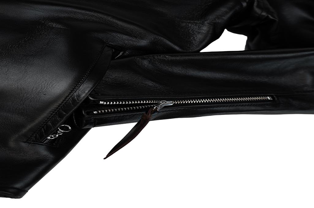 Iron Heart Horsehide Leather Jacket w/ Collar - Self Edge Edition - Image 7