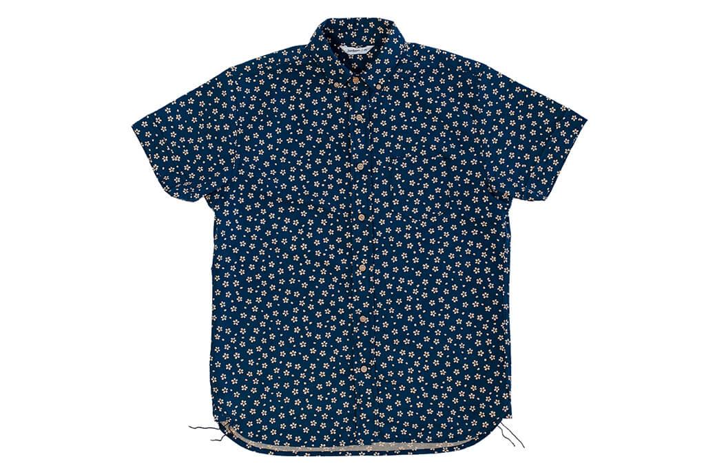 3sixteen Short Sleeve Button Down Shirt - Blue Sakura - Image 3