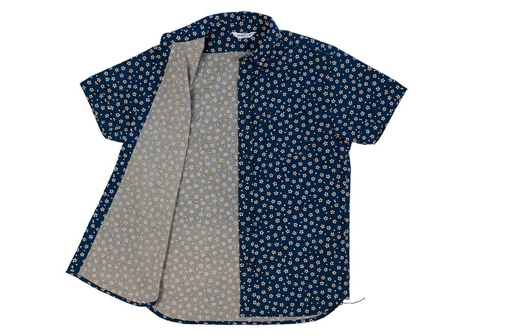 3sixteen Short Sleeve Button Down Shirt - Blue Sakura - Image 6