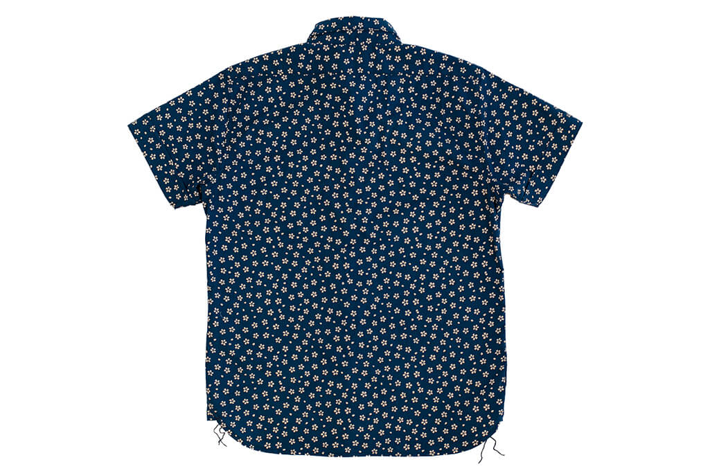 3sixteen Short Sleeve Button Down Shirt - Blue Sakura - Image 8