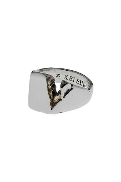 Kei Shigenaga Sterling Silver & 18k Gold Ring - Kyoka