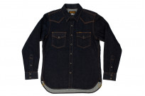 Iron Heart 12oz Denim Snap Shirt w/ Contrast Stitch - Image 3