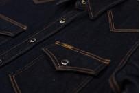 Iron Heart 12oz Denim Snap Shirt w/ Contrast Stitch - Image 4