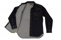 Iron Heart 12oz Denim Snap Shirt w/ Contrast Stitch - Image 6