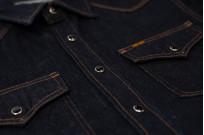 Iron Heart 12oz Denim Snap Shirt w/ Contrast Stitch - Image 9