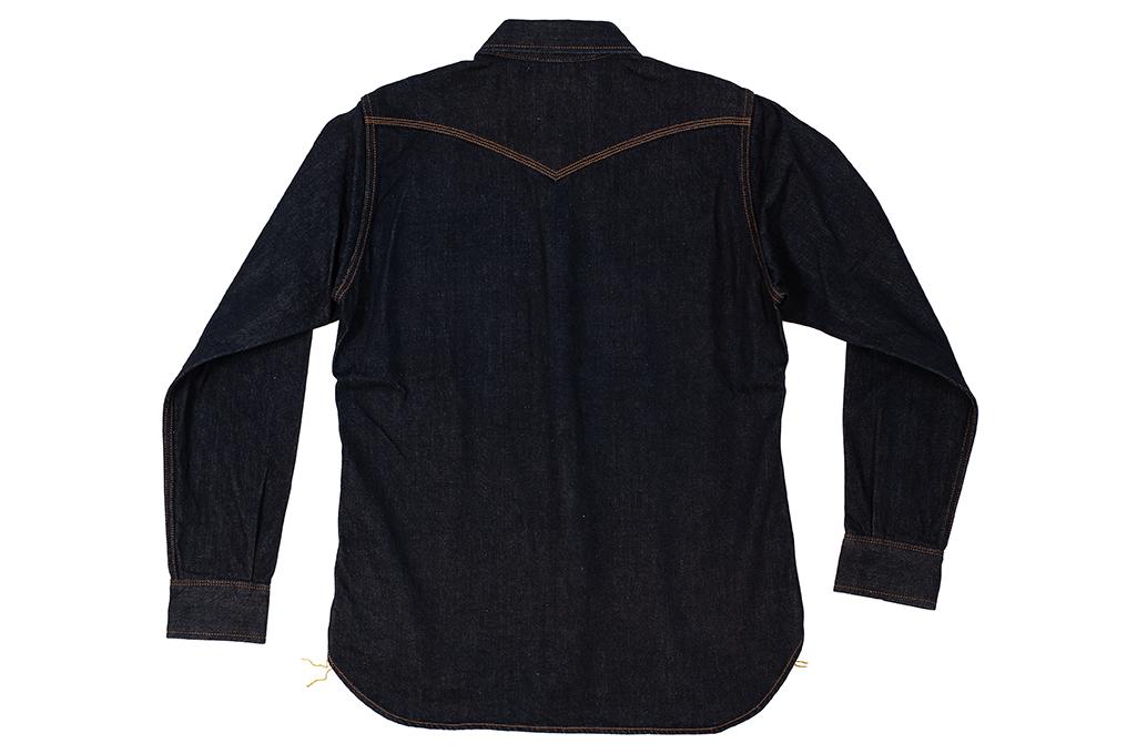 Iron Heart 12oz Denim Snap Shirt w/ Contrast Stitch - Image 11