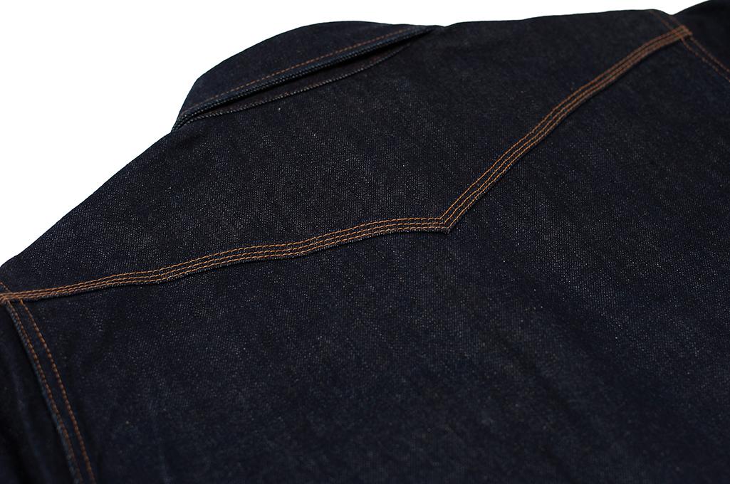 Iron Heart 12oz Denim Snap Shirt w/ Contrast Stitch - Image 12