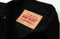 Iron Heart Modified Type III Denim Jacket - 14oz Black/Black - Image 6