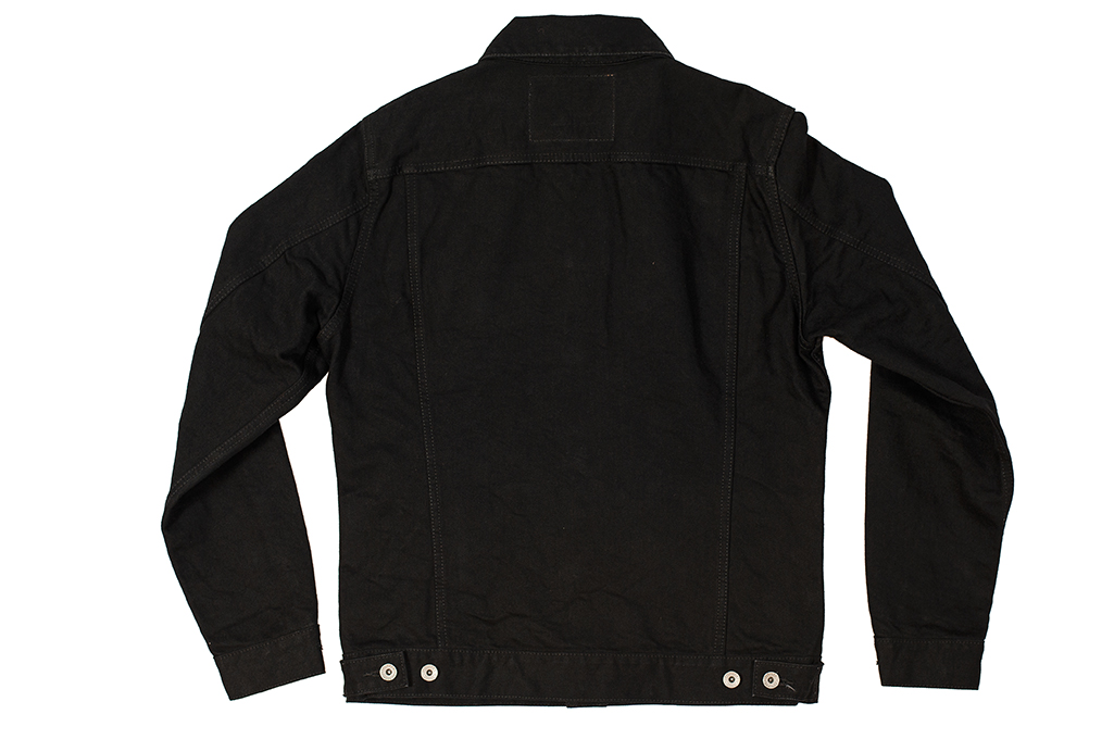 Iron Heart Modified Type III Denim Jacket - 14oz Black/Black - Image 9