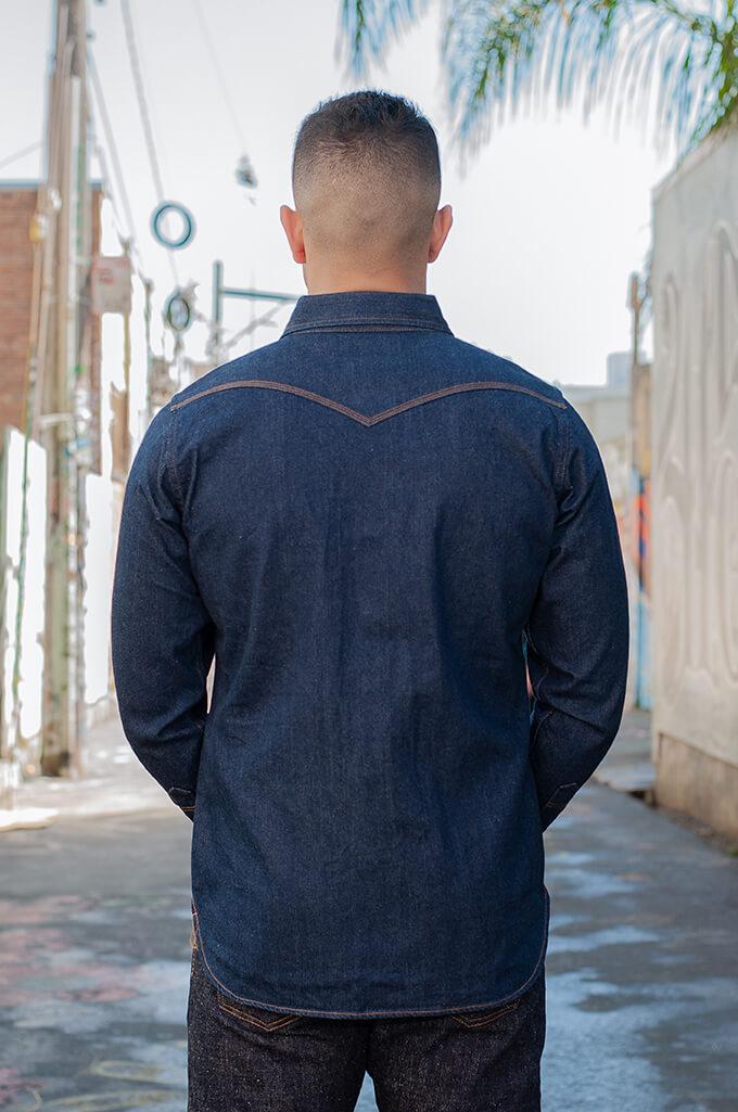 Iron Heart Snap Denim Shirt - Natural Indigo! - Image 2