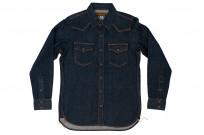 Iron Heart Snap Denim Shirt - Natural Indigo! - Image 3