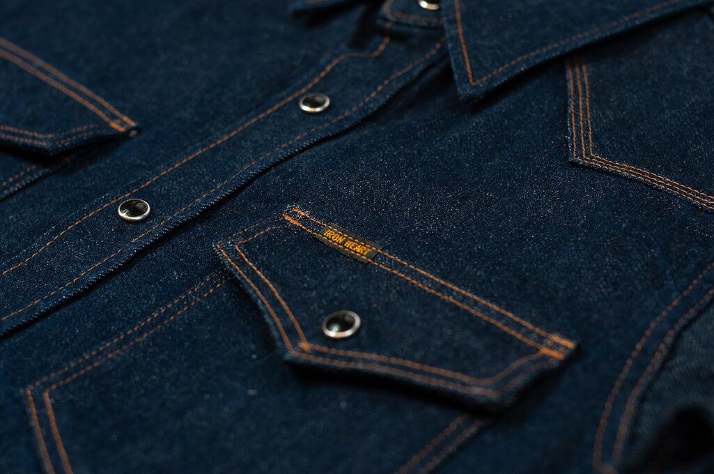 Iron Heart Snap Denim Shirt - Natural Indigo! - Image 4