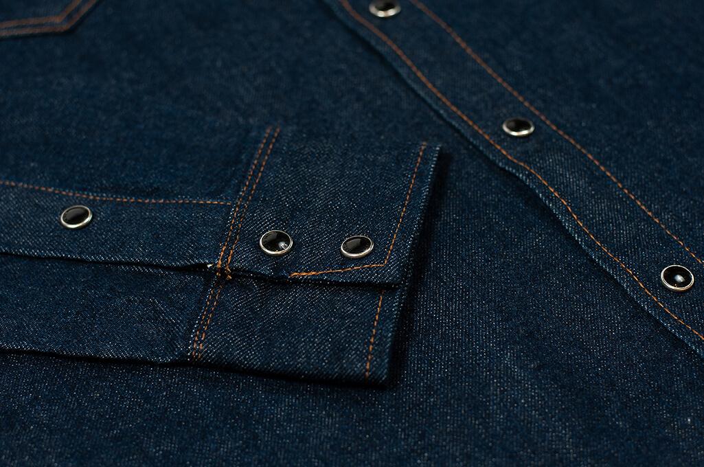 Iron Heart Snap Denim Shirt - Natural Indigo! - Image 5