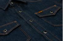 Iron Heart Snap Denim Shirt - Natural Indigo! - Image 7