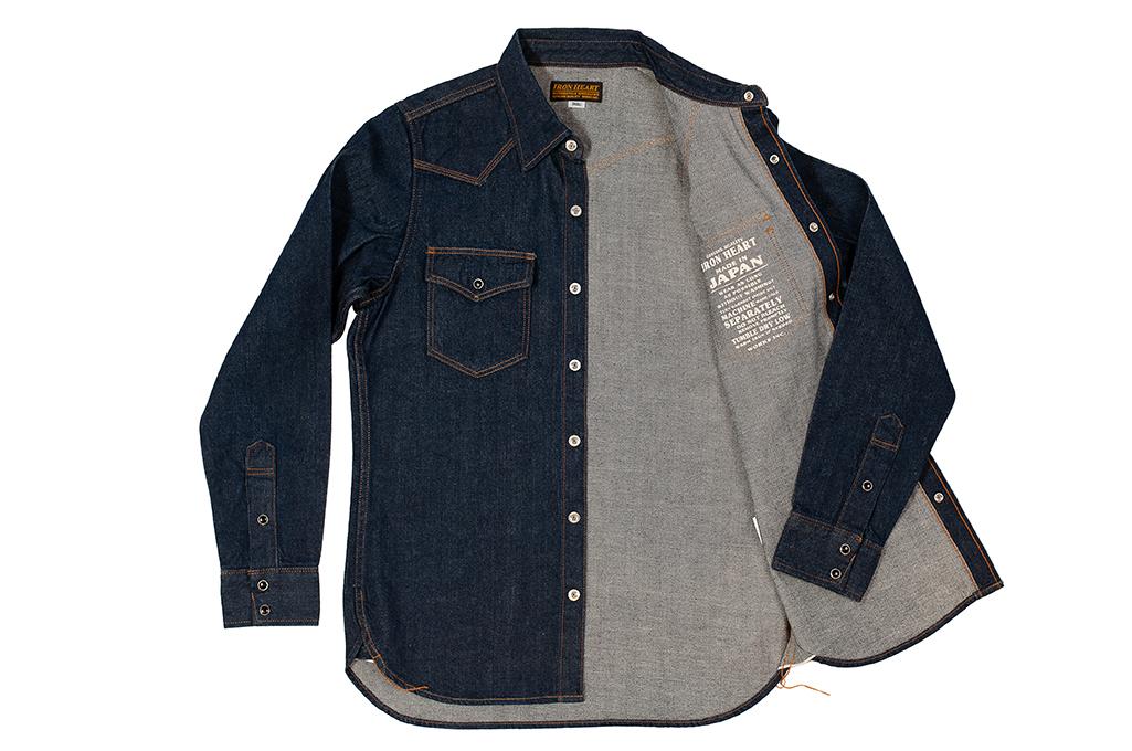 Iron Heart Snap Denim Shirt - Natural Indigo! - Image 9