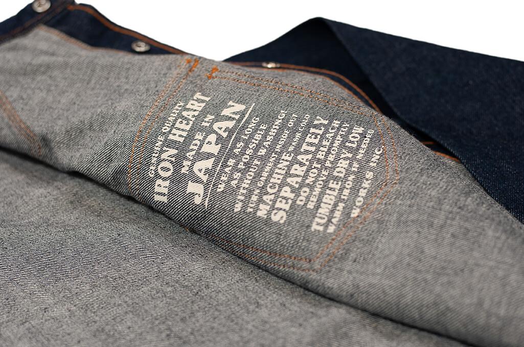 Iron Heart Snap Denim Shirt - Natural Indigo! - Image 10