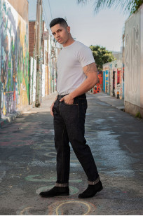 Studio D'Artisan SP-068 40th Anniversary Charcoal Weft Jeans - Straight Tapered - Image 1