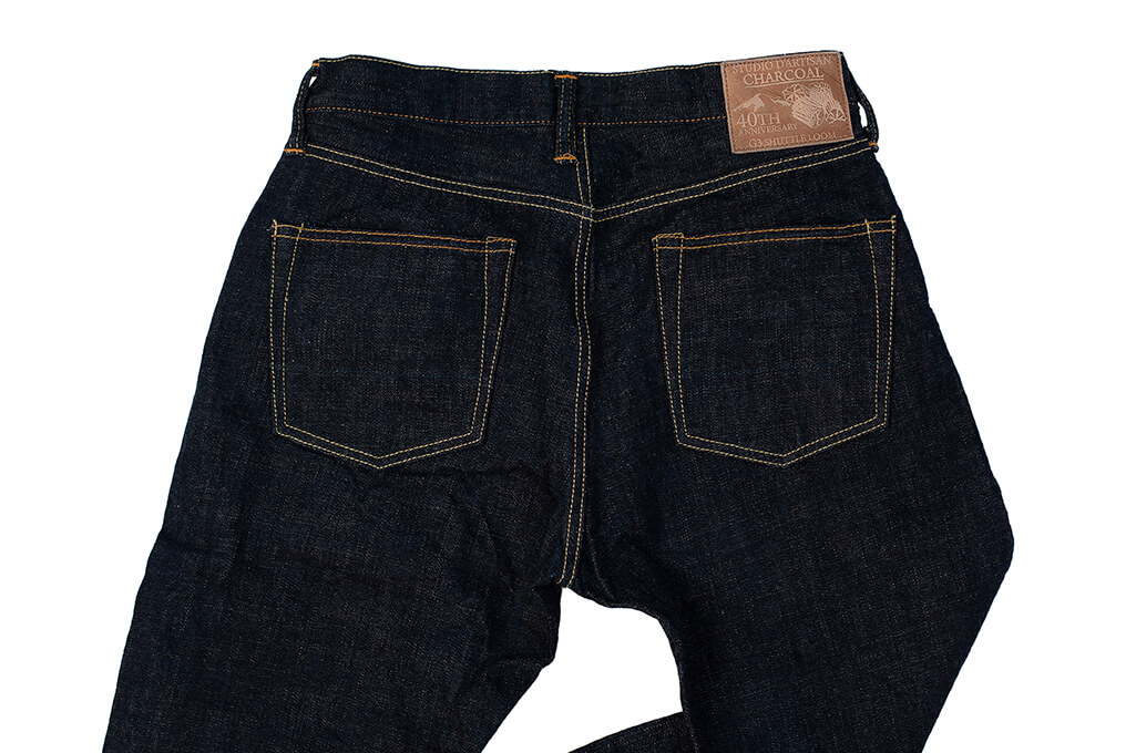 Studio D'Artisan SP-068 40th Anniversary Charcoal Weft Jeans - Straight Tapered - Image 8