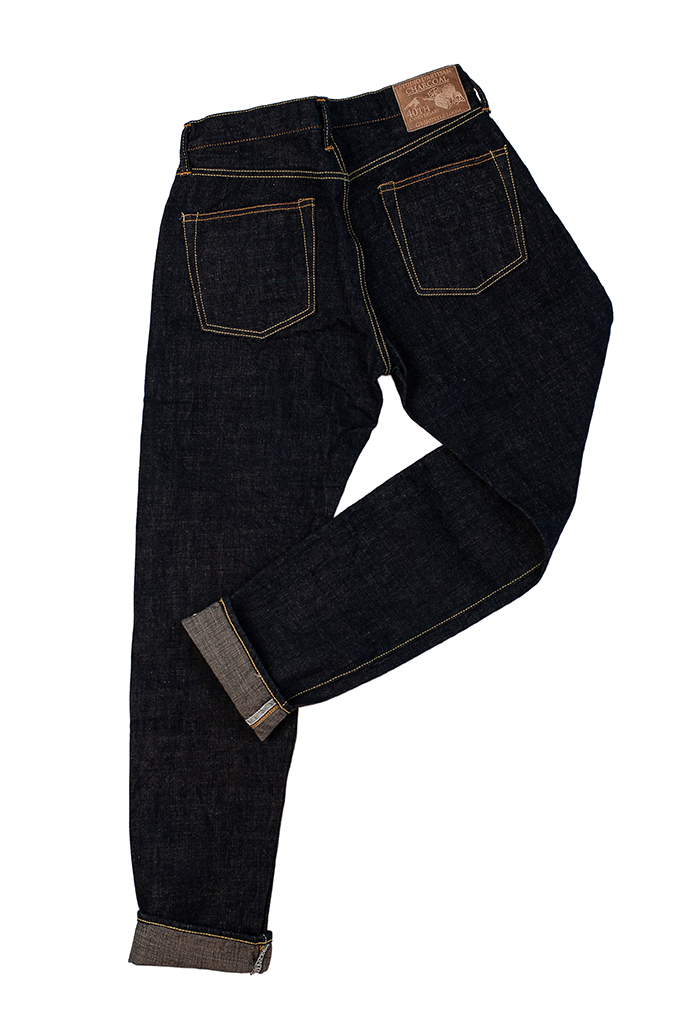 Studio D'Artisan SP-068 40th Anniversary Charcoal Weft Jeans - Straight Tapered - Image 12