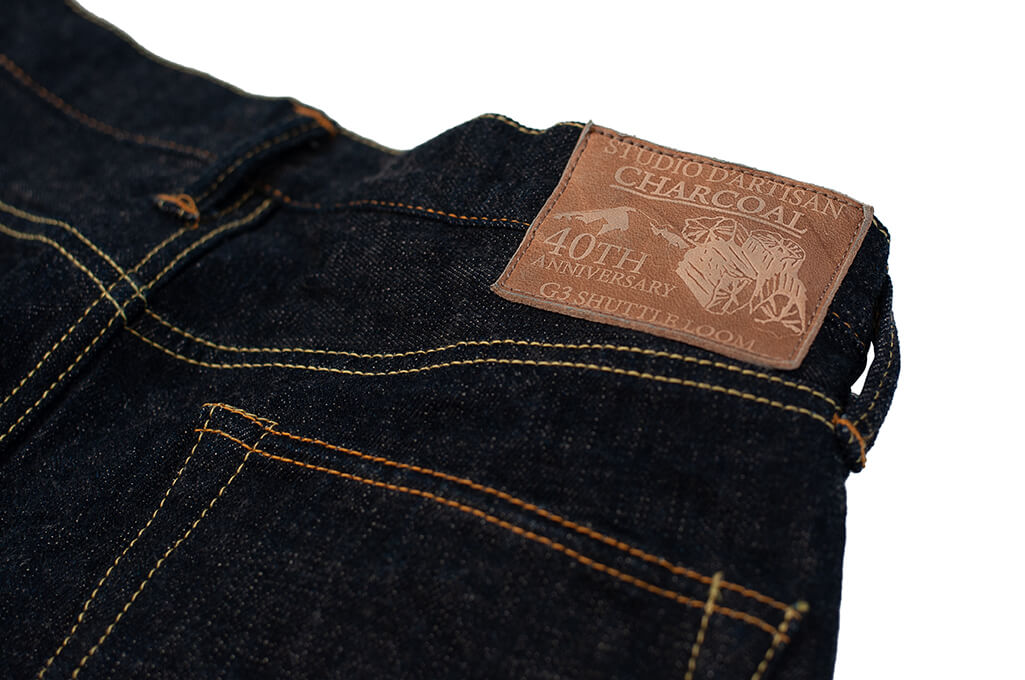 Studio D'Artisan SP-068 40th Anniversary Charcoal Weft Jeans - Straight Tapered - Image 13
