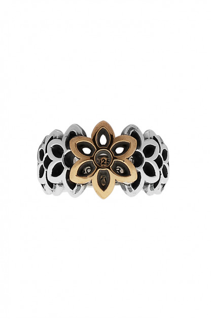 Good Art Frida Ring - Sterling Silver & 22k Yellow Gold Rosette