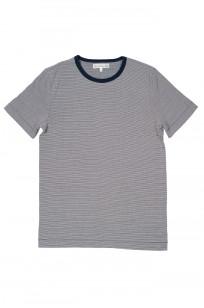 Merz B. Schwanen 2-Thread Heavy Weight T-Shirt - Fine Blue Stripe - Image 0