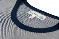 Merz B. Schwanen 2-Thread Heavy Weight T-Shirt - Fine Blue Stripe - Image 1