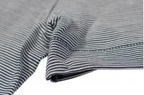 Merz B. Schwanen 2-Thread Heavy Weight T-Shirt - Fine Blue Stripe - Image 2