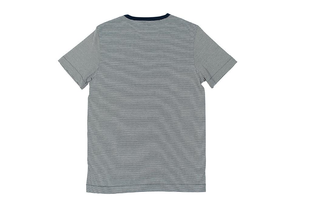 Merz B. Schwanen 2-Thread Heavy Weight T-Shirt - Fine Blue Stripe - Image 3