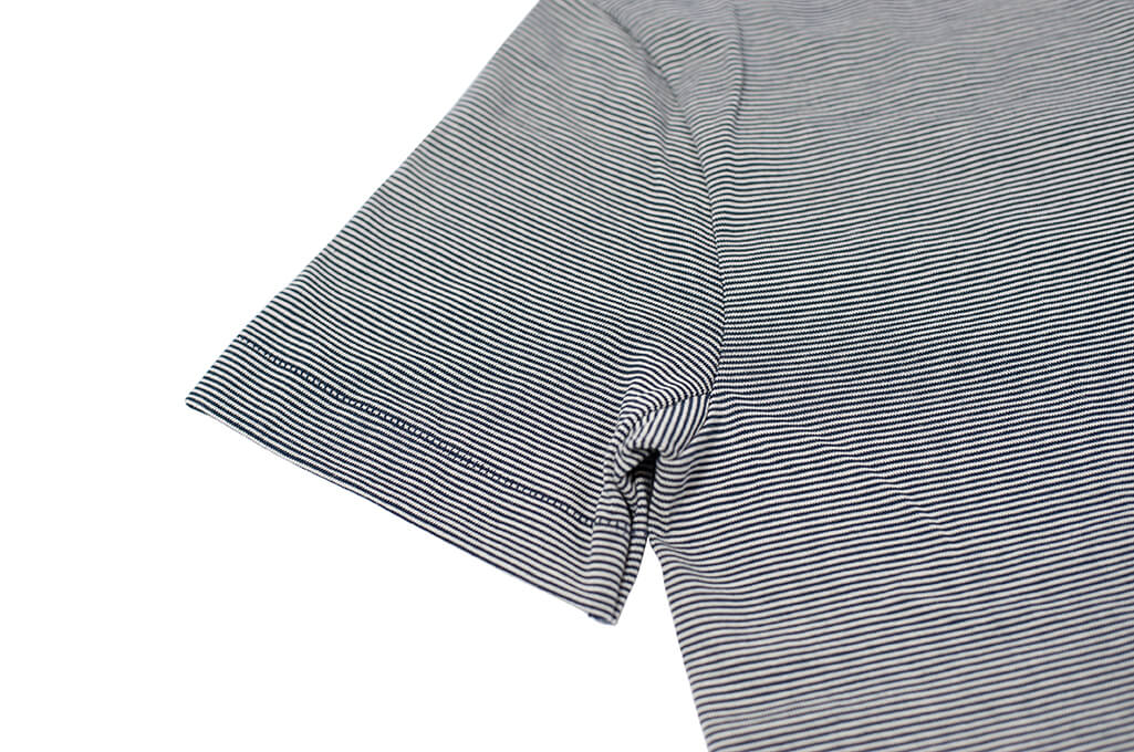 Merz B. Schwanen 2-Thread Heavy Weight T-Shirt - Fine Blue Stripe - Image 5