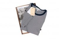 Merz B. Schwanen 2-Thread Heavy Weight T-Shirt - Fine Blue Stripe - Image 6