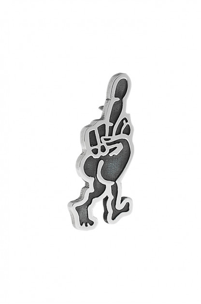 Good Art Sterling Silver Pin - Walking Finger