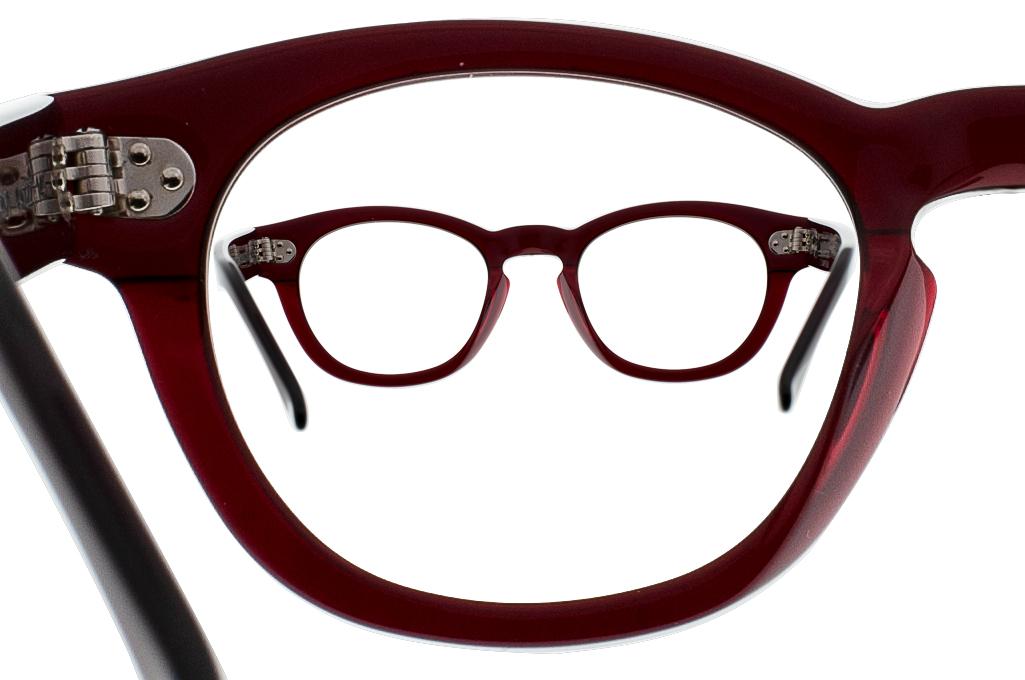 Dandy's Hand Cut Acetate Eyeglasses - Giorgio / RO1 - Image 9