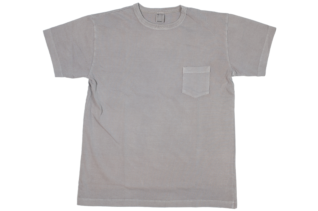 3sixteen Garment Dyed Pocket T-Shirt - Ash - Image 1