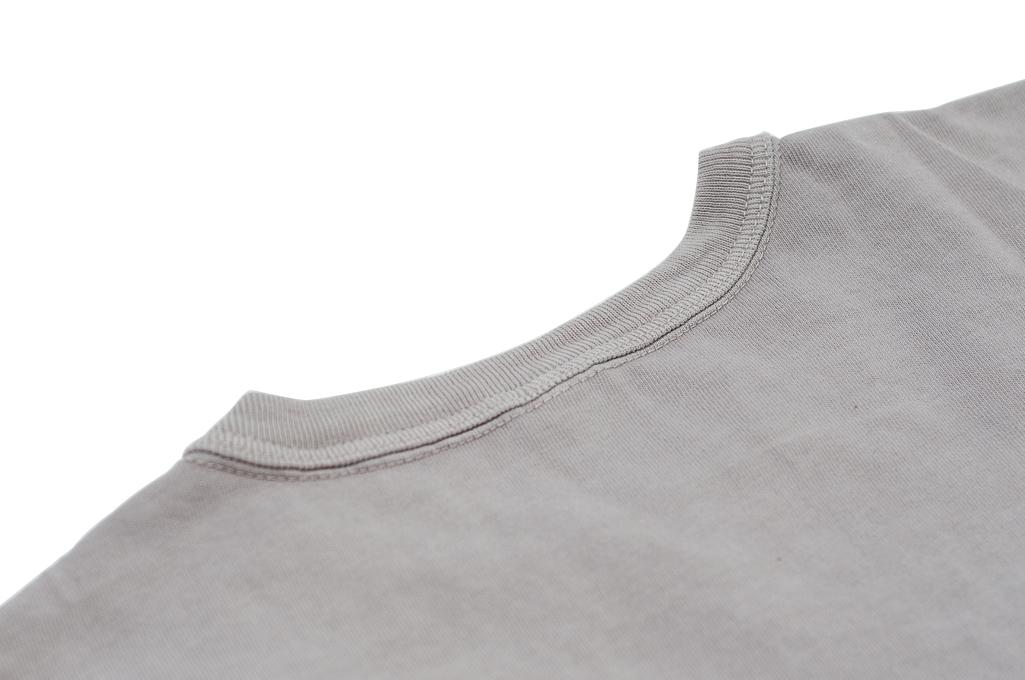 3sixteen Garment Dyed Pocket T-Shirt - Ash - Image 6